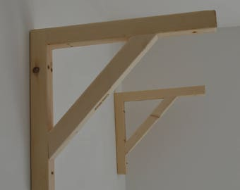 Hanging ,Pair of Shelf Brackets, Massive ,Handmade!