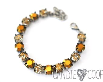 Gold Rush Crystal Bracelet kit = DIY Jewelry