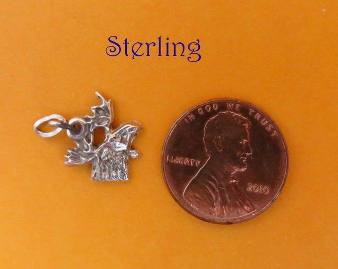 Sterling Silver Bird Charm, Vintage Figural Charm, Starter Charm, Gift idea