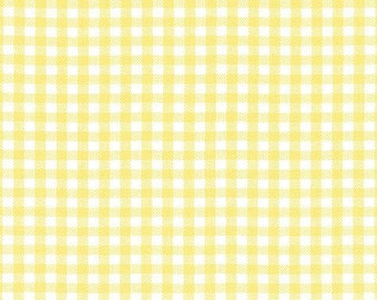 Carolina Gingham by Robert Kaufman - 1/8 Yellow - Sold by the yard