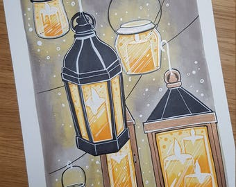 Inktober 2017 day 25 - 'lanterns and candles''
