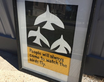 Graphic bird print