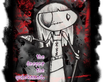 PRINT - Lost Girl Kenzi Character Illustration