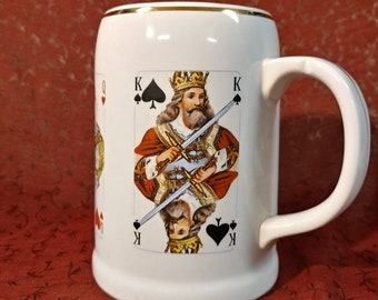 Poker Playing Card Stein