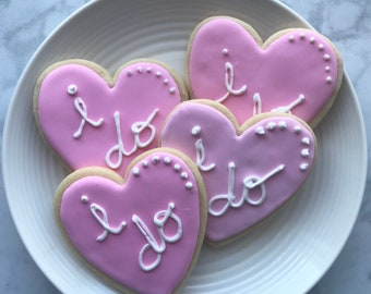I Do Hearts- Wedding Cookies