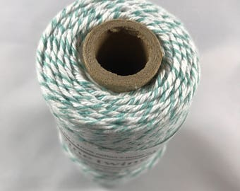 Bakers Twine - Divine Twine - 100% Cotton -  One Color - Your Choice of Color and Length - Teal Shown