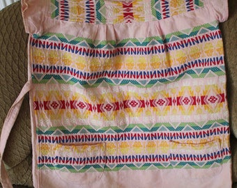 Rare Vintage Guatemalan Huipil C. 1950s-1960, Cotton, Embroidery, Guatemala, Ethnographic