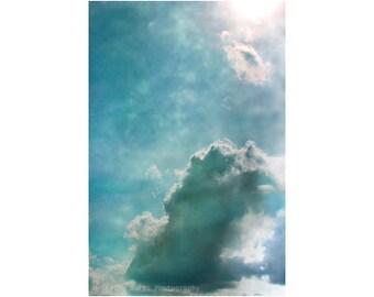 Fine Art Photography, Spiritual Art, Blue Art, Cloud Photography, Sky Photography, Vertical Wall Art, Oversized Print, Presence
