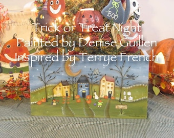 Trich or Treat Night by Denise Guillen, email pattern packet!