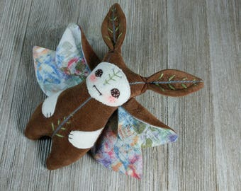 Fairy creature, elf monster, moth creature, pixie,  fairy critter, butterfly, handmade creature plushie by Miss Moth dolls