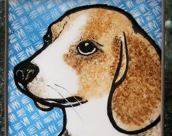 Stained Glass Dog Suncatcher Beagle  JRN254