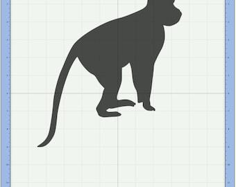 Monkey Cutting file. SVG & Scut3 file formats included. Sizzix / Cricut / eCal / Sure-Cuts-a-Lot
