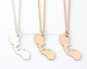 California Bear Necklace, I heart California, Cali bear necklace