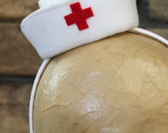 Nurse Mini Hat, RN Mini Hat, Headband, Nurse cap, Medical cap, White Nurse Hat, Photo Prop