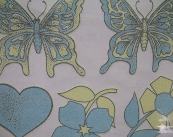 Butterfly Flowers Hearts Stars Non Toxic Glow In The Dark Temporary Tattoos 1