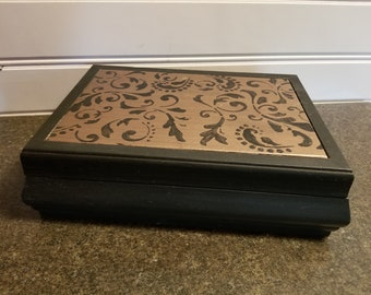 Black and Copper Jewelry Box