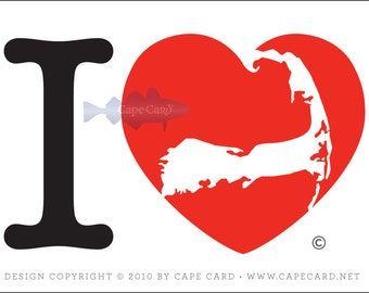I Love Cape Cod (sticker)