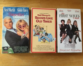 Lot of 3 Goldie Hawn Housesitter, The First Wives Club (VHS)