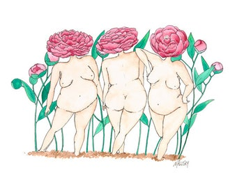 Peony Queens 8x10 Print, Wall Art, Art for Framing