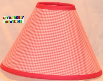 Gingham lamp shade etsy more colors gingham pink fabric lamp shade aloadofball Images