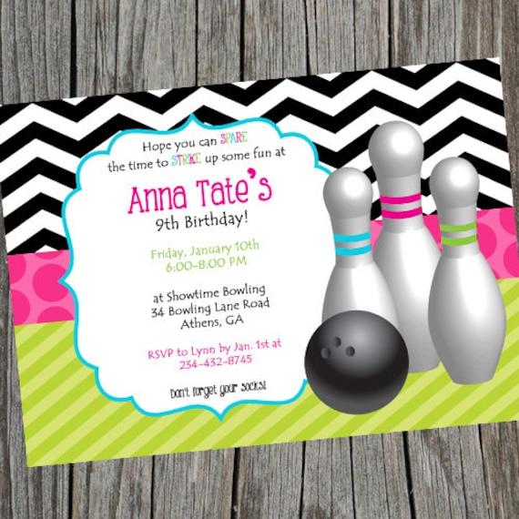 Extrêmement Bowling Invitation filles inviter de quilles Bowling SD46