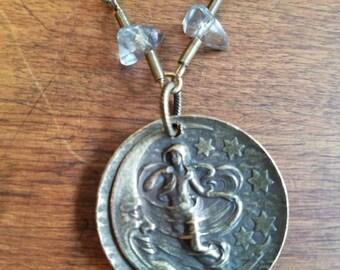 Moon child pendant necklace