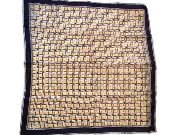 "Vintage Classic Patterned Diagonal Herringbone Scarf - 26.5"" x 26.5"""