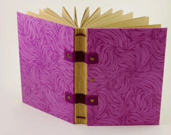 Travel journal for her, original Christmas gift, size A6 Coptic binding, notebook, diary.