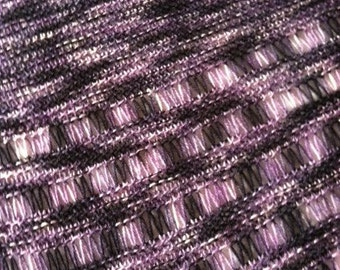 Handknit Shawl - MOODY - Wool, Nylon