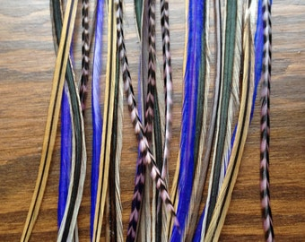 Wild feather hair extension or craft - Feather Purple Boheme