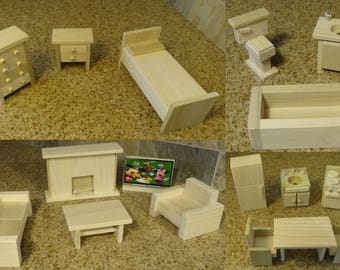 Sale! Wooden Dollhouse Furniture HandCrafted