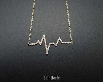 0.25 Carat Diamond Heartbeat Necklace