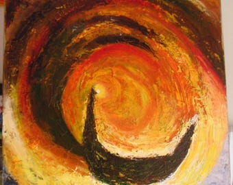 """MODERN painting with oil and knife """"CYCLONE"""""""