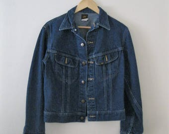 Vintage Lee jean jacket / Unisex denim jacket