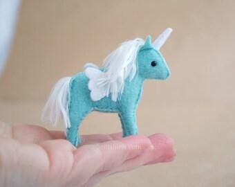 PDF Felt Sewing Pattern Mini Stuffed Unicorn  * DIY Unicorn Ornaments Stuffed Animals * Printable Stuffed Animal Sewing Pattern
