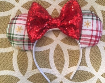 Christmas Minnie Ears, Minnie Mouse Ears, Mickey Mouse Ears, Minnie Ears, Mickey Ears, Disney Ears, Christmas Mickey Ears, Disney Christmas