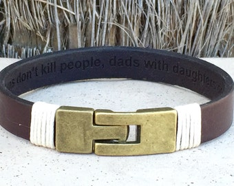 FREE SHIPPING-Leather Bracelet,Stainless Steel Bracelet,Men Leather Bracelet,Men's Personalized Bracelet,Custom Leather Bracelet,Bracelets