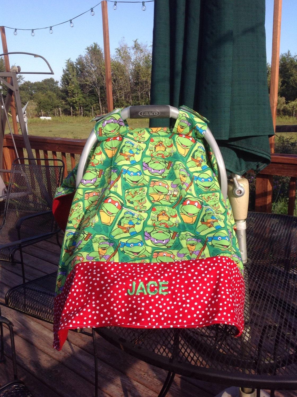 ?zoom & Teenage Mutant Ninja Turtles Inspired Infant Seat Canopy/Car