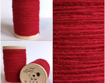 Rustic Moire Wool Thread #360 for Embroidery, Wool Applique and Punch Needle Embroidery