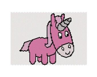 Unicorn Peyote Tapestry