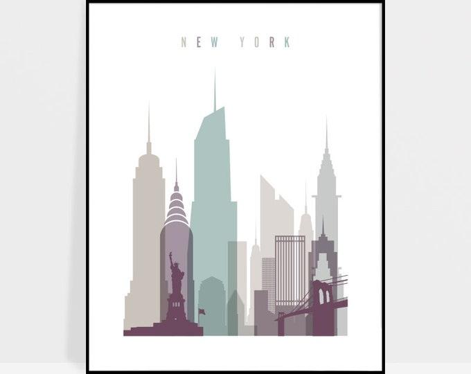 New York print, New York poster, New York City, wall art, New York skyline, travel decor, Travel gift, Home decor, ArtPrintsVicky