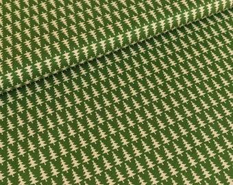 Cotton fabric joyful Christmas Fir cream / Pine Green (9,50 EUR / meter)