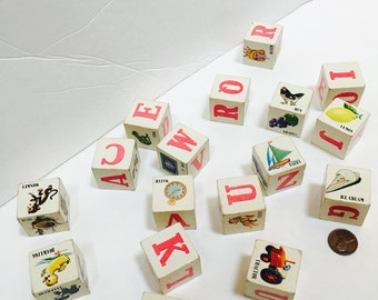 Vintage Childrens Alphabet/ picture Blocks