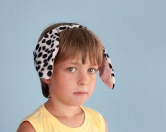 Dalmatian Ears Headband, Children's Dalmatian Dog Head Band, Photo Prop, Dog ears