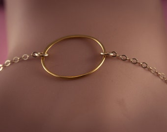 One  Circles Bracelet,  Circles,   24 Gold plated ,   ETERNITY, gift for sisters, Friend, Mom, Bridesmaids Gift