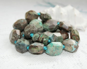 Rhyolite precious stones with turquoise, 16-17 mm, gemstone, turquoise,