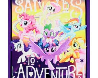 "My Little Pony Minky Backed Blanket 36"" x 42"""