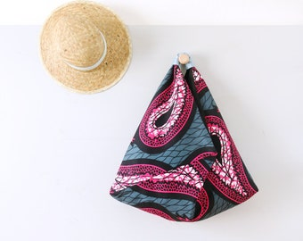 Sac de plage ethnique wax africain / Grand sac origami réversible tissu afro / Boho style / Sac été / Upcycling