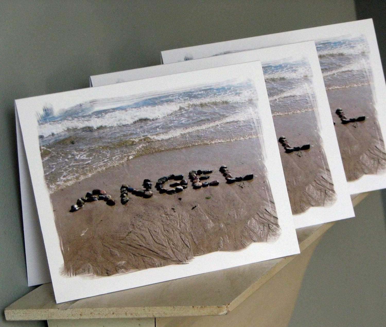 Beach theme greeting cards angel cards beach stone word zoom kristyandbryce Gallery