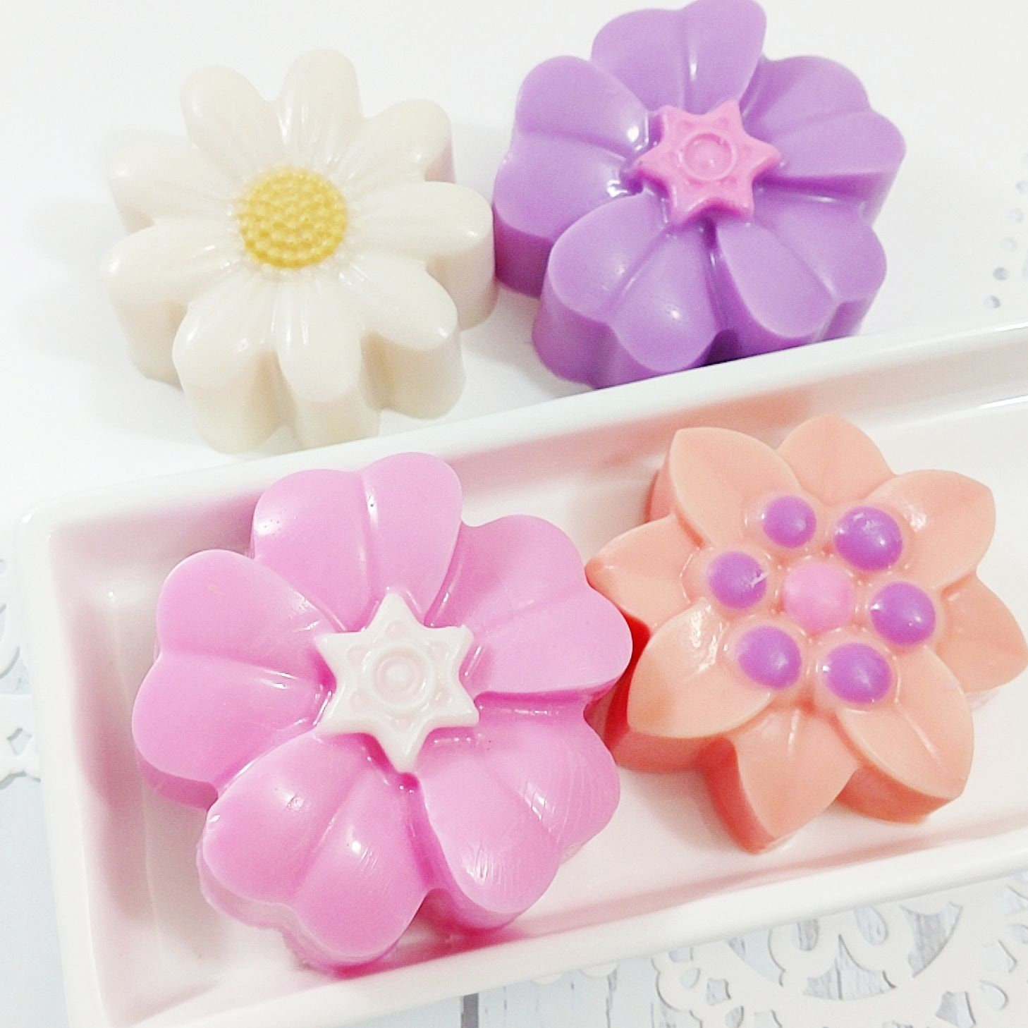 Mothers Day Gift Spring Flowers Soap Gift Set Birthday